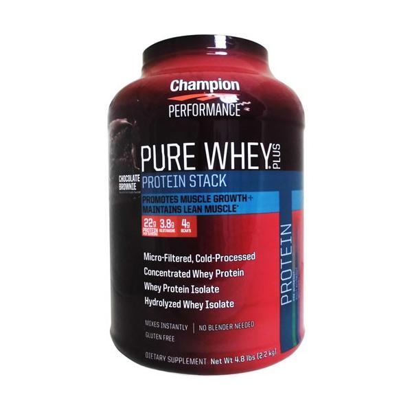 [大容量2.2kg] チャンピオン ピュアホエイプラス プロテインスタック champion protein  ※チョコレートブラウニー |karada-oh