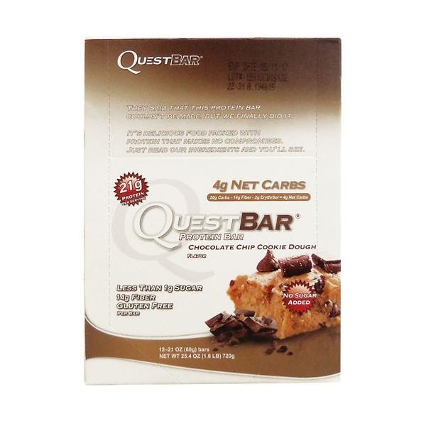 クエストバー(プロテインバー)※チョコレート チップ クッキードウ|karada-oh
