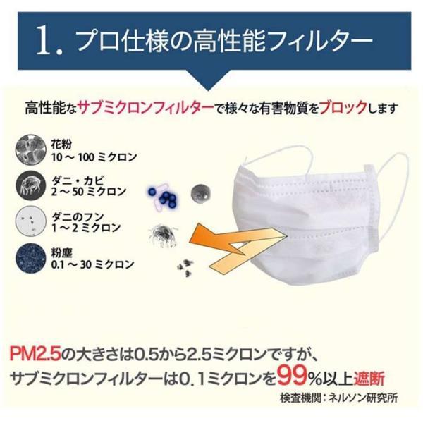 あすつく サージカルマスク ブリッジ メディカルマスク Mホワイト 50枚入 風邪 日本製 メガネが曇らない花粉対策 使い捨て 医療用 立体 マスク|karayasa|02