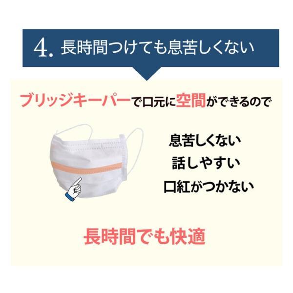 あすつく サージカルマスク ブリッジ メディカルマスク Mホワイト 50枚入 風邪 日本製 メガネが曇らない花粉対策 使い捨て 医療用 立体 マスク|karayasa|05