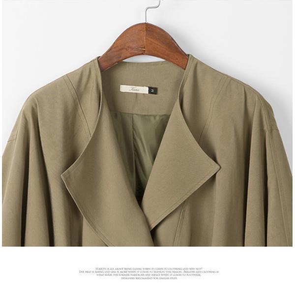 ジャケット 後ろタック ドルマン袖 ドレープ襟 デザインジャケット ツータックドルマン袖 コットン ドルマンシルエット ドレープ アウター 一部予約|karei-fuku|19