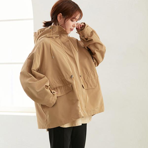 マウンテンパーカー レディース トップス コート アウター ジャケット 防寒 定番 バックスタイル フード付 ポケット 一部予約|karei-fuku|05