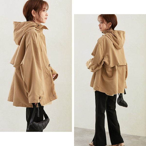 マウンテンパーカー レディース トップス コート アウター ジャケット 防寒 定番 バックスタイル フード付 ポケット 一部予約|karei-fuku|07