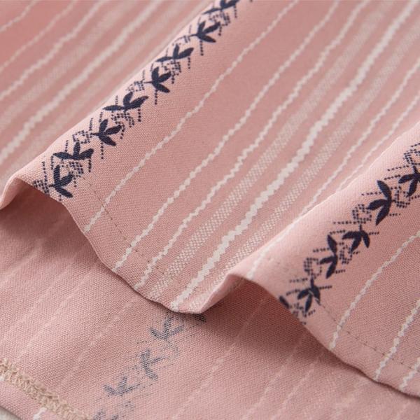 ブラウス tシャツ トップス 花柄 ストライブ柄 プルオーバー 縦ライン 胸ポケット付き バック長め レディース|karei-fuku|18