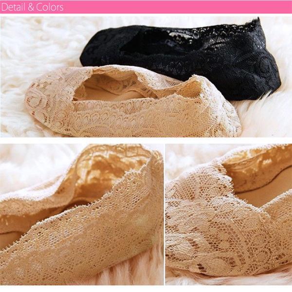 4足セット レディース レース 脱げにくい フットカバー ソックス ショート 靴下 浅履き 美ライン 可愛い インナーソックス|karei-fuku|05