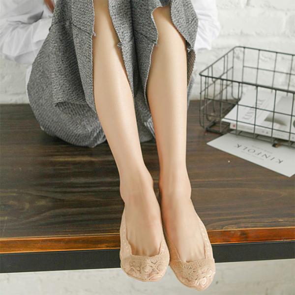 4足セット レディース レース 脱げにくい フットカバー ソックス ショート 靴下 浅履き 美ライン 可愛い インナーソックス|karei-fuku|08