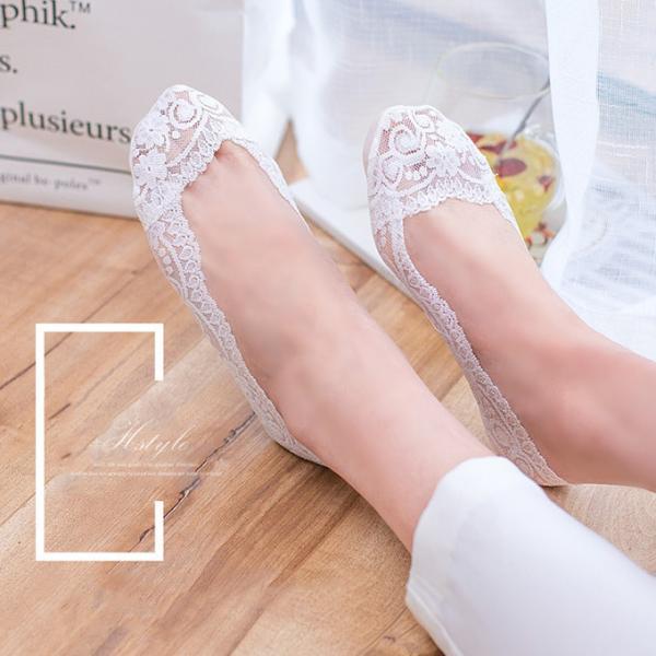 4足セット レディース レース 脱げにくい フットカバー ソックス ショート 靴下 浅履き 美ライン 可愛い インナーソックス|karei-fuku|09