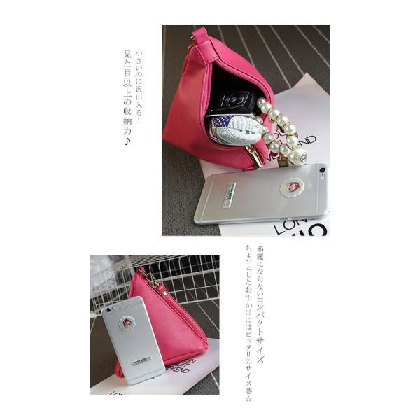 セール ミニバッグ 三角 ポーチ バック 携帯 レディースバッグ 送料無料|karei-fuku|03