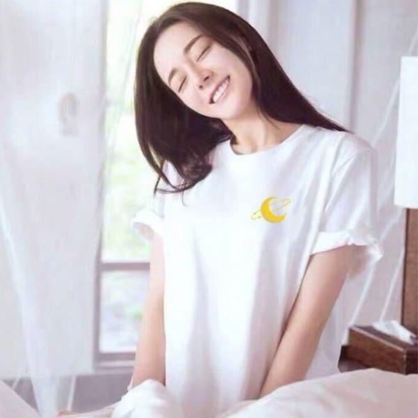 【45%OFFクーポン⇒979円】tシャツ プルオーバー Tシャツ レディース 3タイプ トップス コットン ゆるっと感 文字ロゴ 半月ロゴ ホワイト|karei-fuku|08