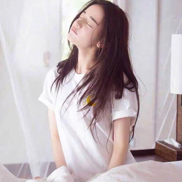 【45%OFFクーポン⇒979円】tシャツ プルオーバー Tシャツ レディース 3タイプ トップス コットン ゆるっと感 文字ロゴ 半月ロゴ ホワイト|karei-fuku|09