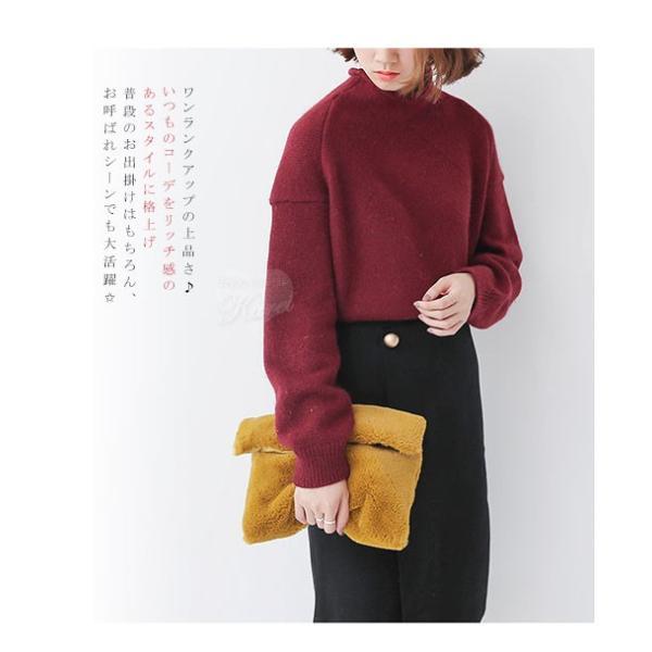 セール モコモコ ファークラッチバッグ 手持ちバッグ ハンドバッグ バッグ レディース 送料無料 karei-fuku 03