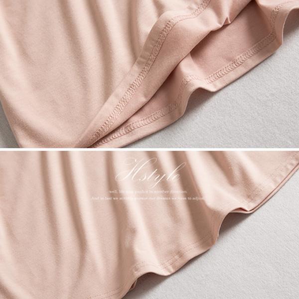 tシャツ 2way オフショルダー カットソー フレア袖 トップス プルオーバー 春夏 Vネック 無地 ボーダー|karei-fuku|19