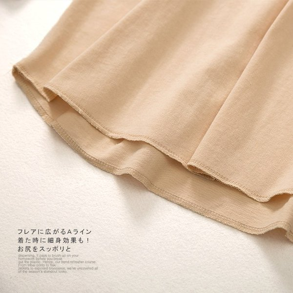 トレーナー ロング丈カットソープルオーバー コットン カットソー 丸首 ゆったり 長袖 トップス レイヤード風 Aライン レディース|karei-fuku|19