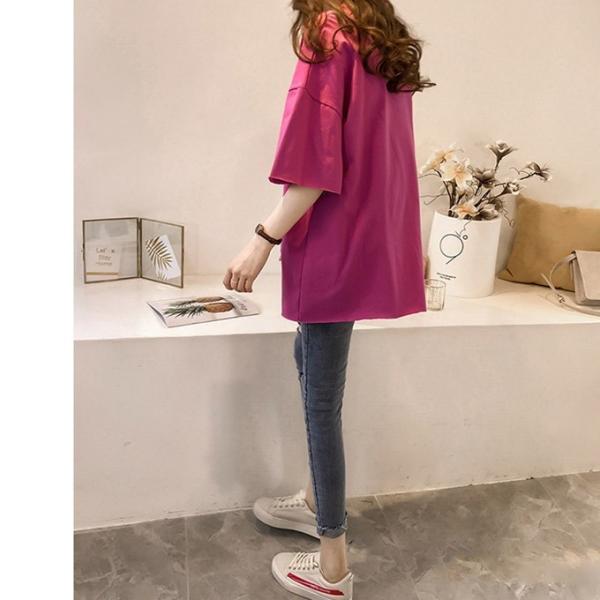 Tシャツ ビックTシャツ tシャツ 大きい ゆるい ビックサイズ シンプル 半袖 トップス 一部即納 karei-fuku 12