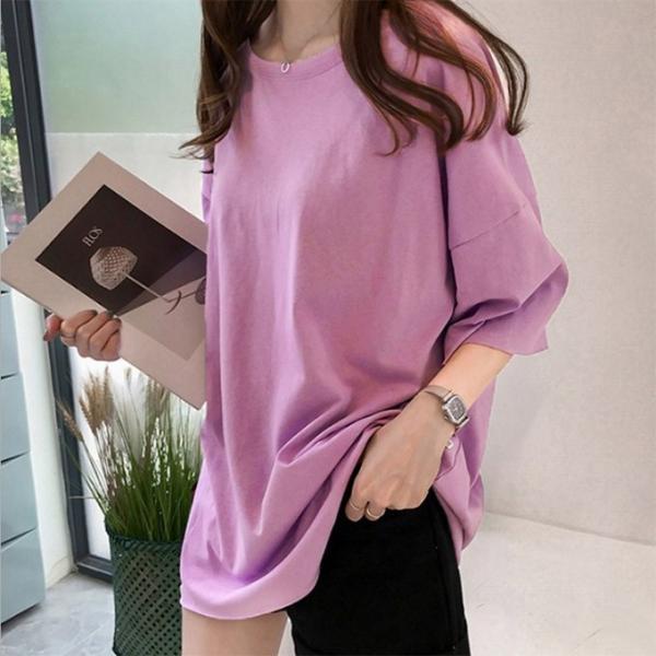 Tシャツ ビックTシャツ tシャツ 大きい ゆるい ビックサイズ シンプル 半袖 トップス 一部即納 karei-fuku 13