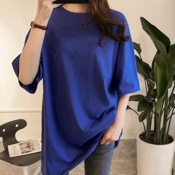 Tシャツ ビックTシャツ tシャツ 大きい ゆるい ビックサイズ シンプル 半袖 トップス 一部即納 karei-fuku 14
