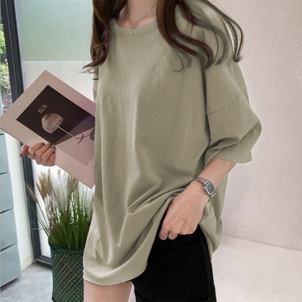 Tシャツ ビックTシャツ tシャツ 大きい ゆるい ビックサイズ シンプル 半袖 トップス 一部即納 karei-fuku 18