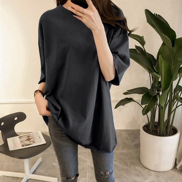 Tシャツ ビックTシャツ tシャツ 大きい ゆるい ビックサイズ シンプル 半袖 トップス 一部即納 karei-fuku 19