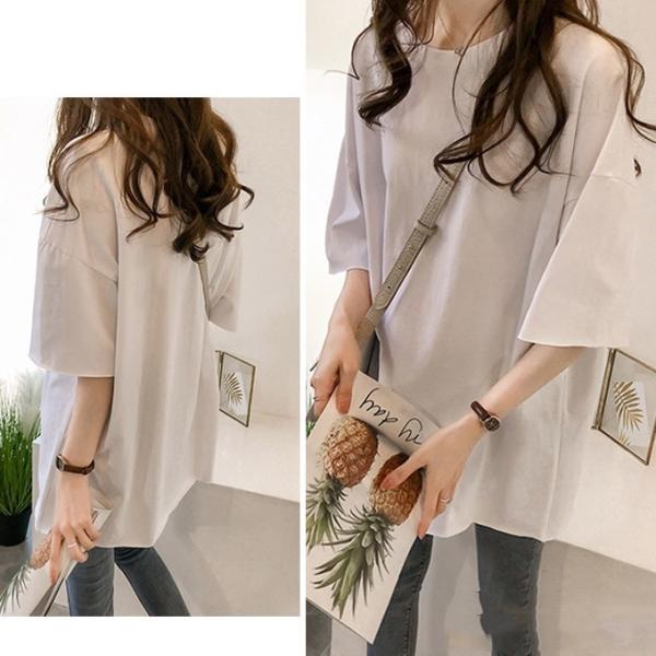 Tシャツ ビックTシャツ tシャツ 大きい ゆるい ビックサイズ シンプル 半袖 トップス 一部即納 karei-fuku 04
