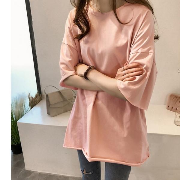 Tシャツ ビックTシャツ tシャツ 大きい ゆるい ビックサイズ シンプル 半袖 トップス 一部即納 karei-fuku 07