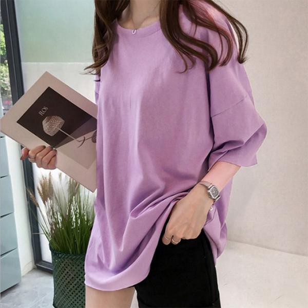 ビッグTシャツ ビックTシャツ Tシャツ 大きい ゆるい ビックサイズ シンプル 半袖 トップス【10-14日発送予定(土日祝除く)】|karei-fuku|13
