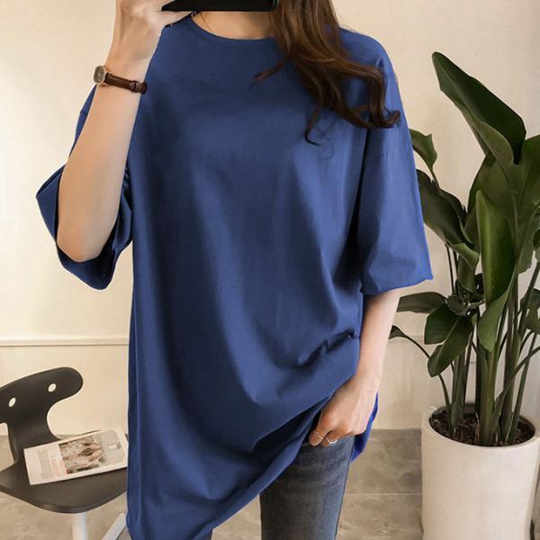 ビッグTシャツ ビックTシャツ Tシャツ 大きい ゆるい ビックサイズ シンプル 半袖 トップス【10-14日発送予定(土日祝除く)】|karei-fuku|14