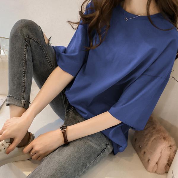 ビッグTシャツ ビックTシャツ Tシャツ 大きい ゆるい ビックサイズ シンプル 半袖 トップス【10-14日発送予定(土日祝除く)】|karei-fuku|16