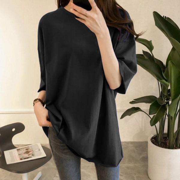 ビッグTシャツ ビックTシャツ Tシャツ 大きい ゆるい ビックサイズ シンプル 半袖 トップス【10-14日発送予定(土日祝除く)】|karei-fuku|17