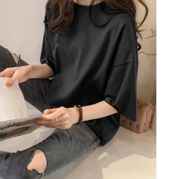 ビッグTシャツ ビックTシャツ Tシャツ 大きい ゆるい ビックサイズ シンプル 半袖 トップス【10-14日発送予定(土日祝除く)】|karei-fuku|18