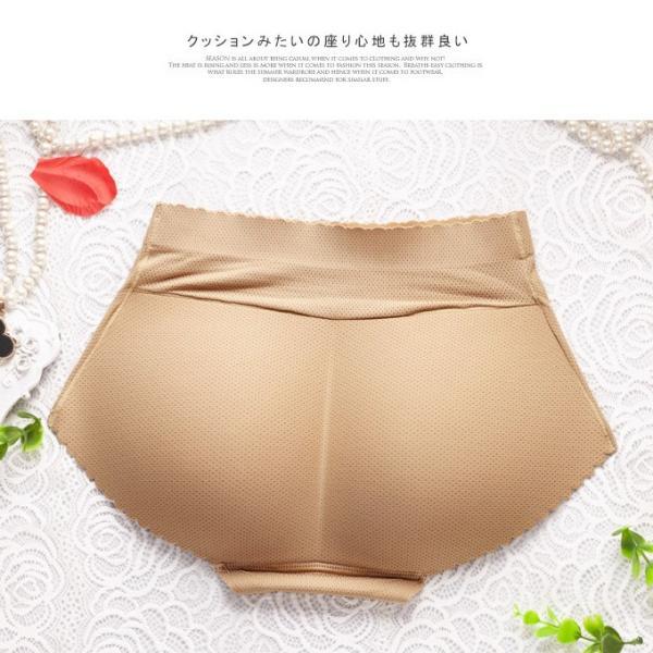 補製ショーツガードルPライン 美尻補製 ショーツ すっきり 美尻 セクシー クッション 透け感 インナー補正下着 伸縮性 波模様 ソフト|karei-fuku|12