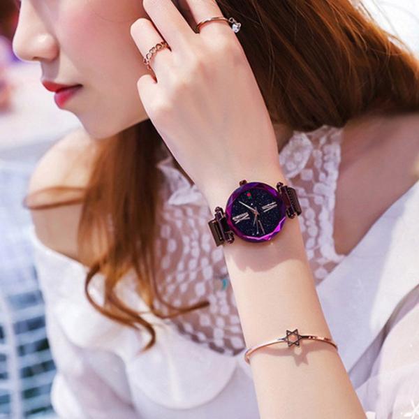 腕時計 ウォッチ ビジュー付き オーロラー風 ビジュー ゴージャス キラキラ サイズ調整可能 レディース 磁気 男女兼用 一部予約|karei-fuku|11