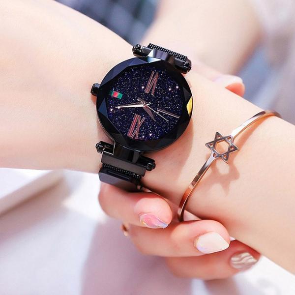 腕時計 ウォッチ ビジュー付き オーロラー風 ビジュー ゴージャス キラキラ サイズ調整可能 レディース 磁気 男女兼用 一部予約|karei-fuku|15