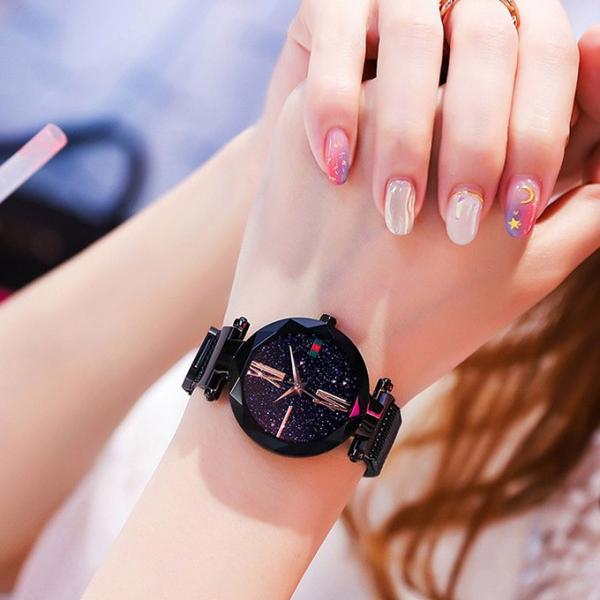 腕時計 ウォッチ ビジュー付き オーロラー風 ビジュー ゴージャス キラキラ サイズ調整可能 レディース 磁気 男女兼用 一部予約|karei-fuku|16
