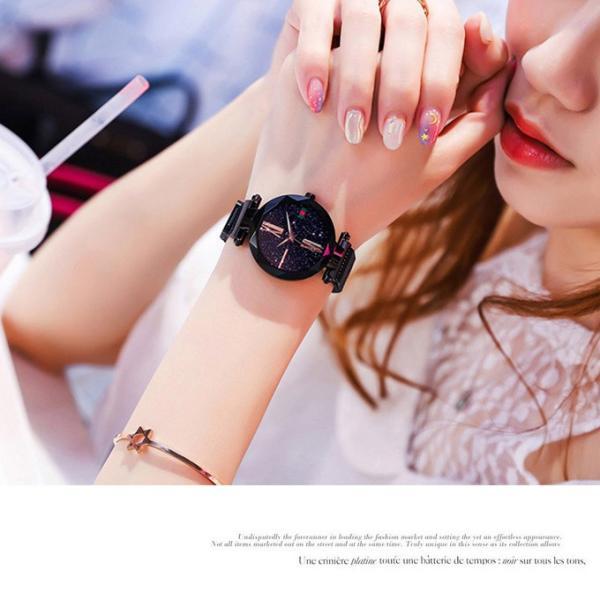 腕時計 ウォッチ ビジュー付き オーロラー風 ビジュー ゴージャス キラキラ サイズ調整可能 レディース 磁気 男女兼用 一部予約|karei-fuku|17