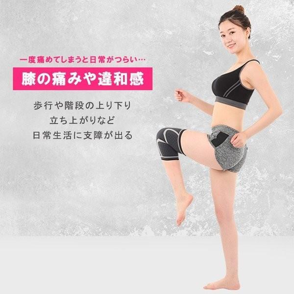 膝サポーター スポーツ 1枚だけ 薄手 バレーボール ランニング ジュニア 高齢者 大きいサイズ スポーツ用 関節痛 膝の痛み カーフスリーブ|karei-fuku|02