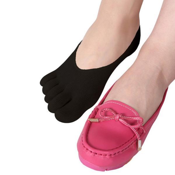 ソックス フットカバー タイプア選べる 五本指ソックス 水虫 靴下 ネイルケア ネイルカバー つま先  レディース|karei|05