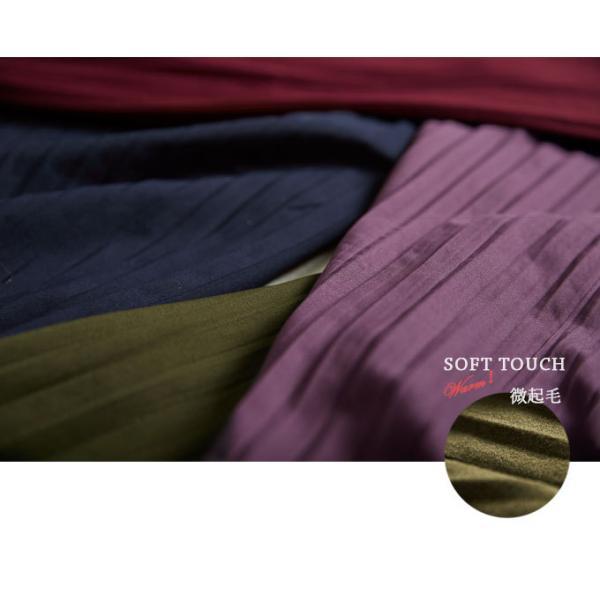 プリーツ スカーチョ ウエストゴム ロング ポトムス ワイドパンツ ガウチョパンツ シンプル 新春セール|karei|03