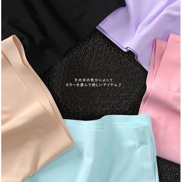 ショーツ パンツ 下着 シームレス レディース ノーマル 女性用 ストレッチ  コットン ホワイト ブラック ベージュ フィット感 ズレにくい 上品 インナー|karei|05
