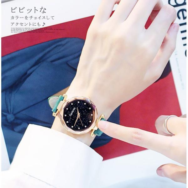 盤腕時計 ウォッチ watch 腕時計 ラメ入り文字盤 高級感 ゴールド キラキラ ゴルード 男女兼用 レディース|karei|12