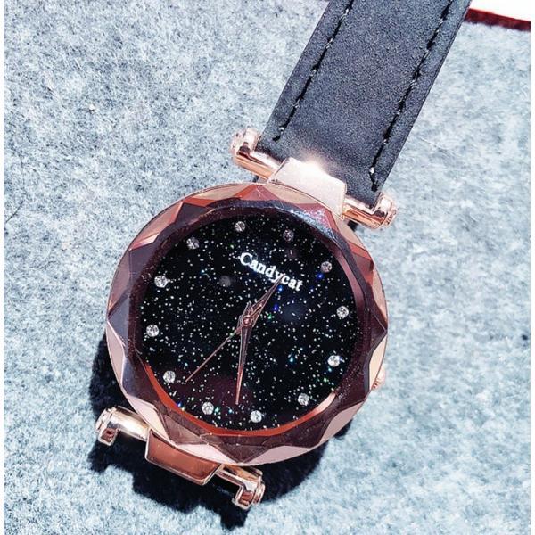 盤腕時計 ウォッチ watch 腕時計 ラメ入り文字盤 高級感 ゴールド キラキラ ゴルード 男女兼用 レディース|karei|14