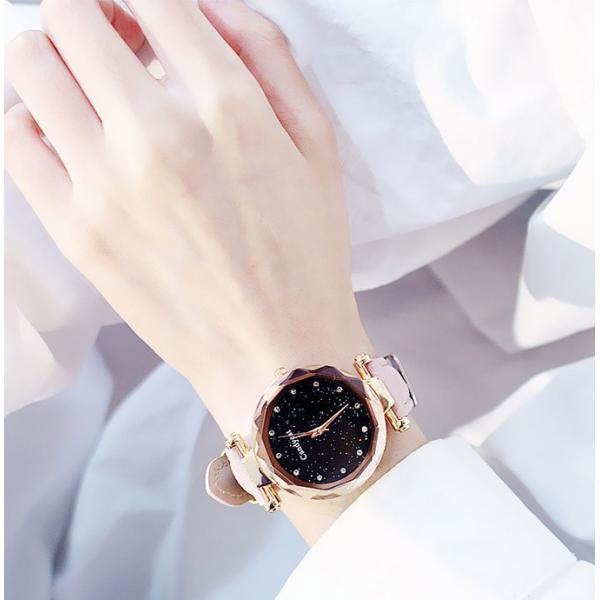 盤腕時計 ウォッチ watch 腕時計 ラメ入り文字盤 高級感 ゴールド キラキラ ゴルード 男女兼用 レディース|karei|03
