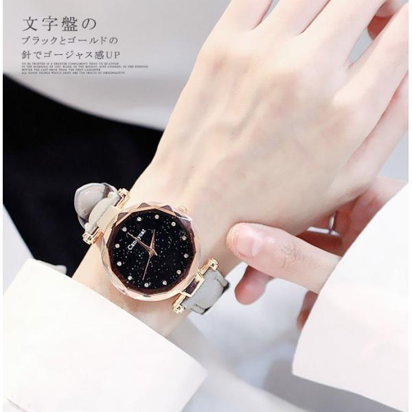 盤腕時計 ウォッチ watch 腕時計 ラメ入り文字盤 高級感 ゴールド キラキラ ゴルード 男女兼用 レディース|karei|04