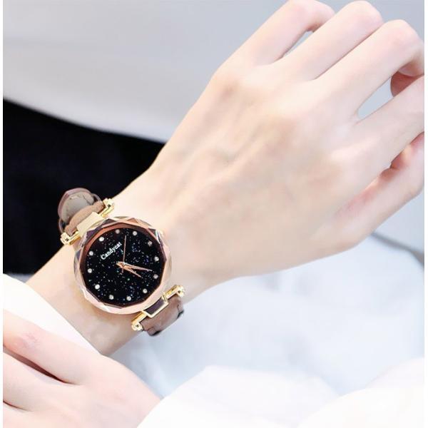 盤腕時計 ウォッチ watch 腕時計 ラメ入り文字盤 高級感 ゴールド キラキラ ゴルード 男女兼用 レディース|karei|07