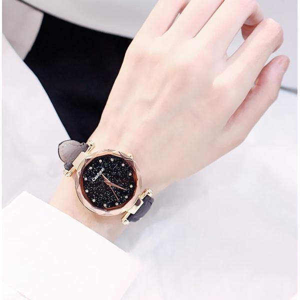 盤腕時計 ウォッチ watch 腕時計 ラメ入り文字盤 高級感 ゴールド キラキラ ゴルード 男女兼用 レディース|karei|08