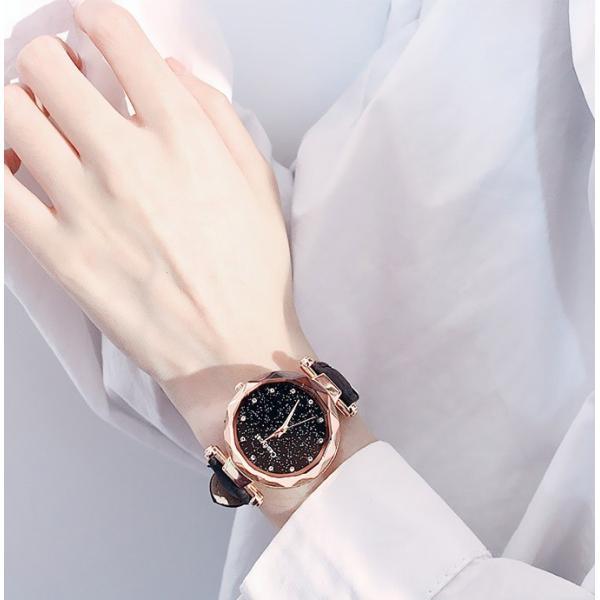 盤腕時計 ウォッチ watch 腕時計 ラメ入り文字盤 高級感 ゴールド キラキラ ゴルード 男女兼用 レディース|karei|09