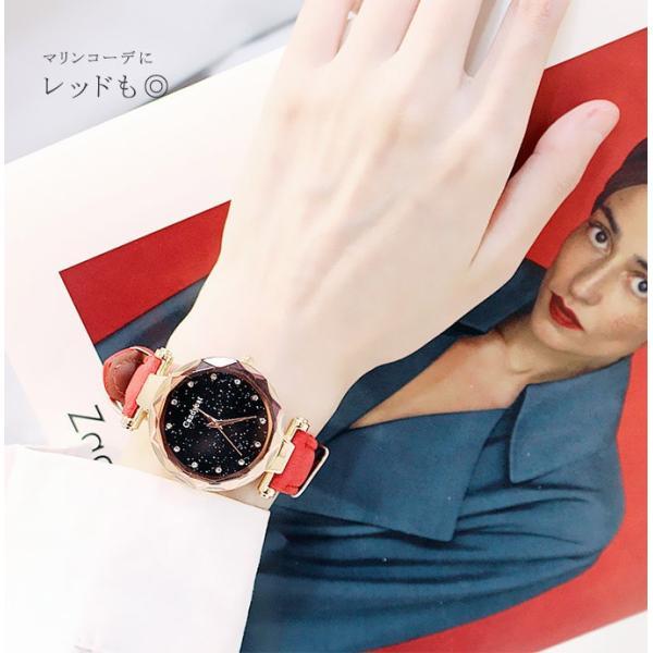 盤腕時計 ウォッチ watch 腕時計 ラメ入り文字盤 高級感 ゴールド キラキラ ゴルード 男女兼用 レディース|karei|10