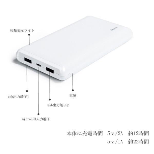 【PSEマーク付】モバイルバッテリー 大容量 軽量 20000mah  極薄 高品質 軽量  X 8 6 plus 6 6s  8Plus huawei 7 GALAXY Xperia各機種対応可|karei|07