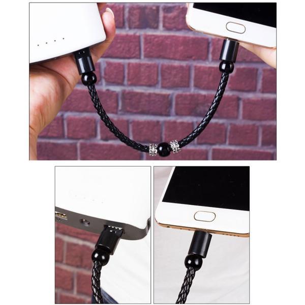充電ケーブル 選べる3TYPE iPhone/TypeC/ Micro USBケーブル iPhoneX XS Max XR iPhone8/8 Plus/7 巻き取り ケーブル 3 in 1 全機種対応可 karei 06