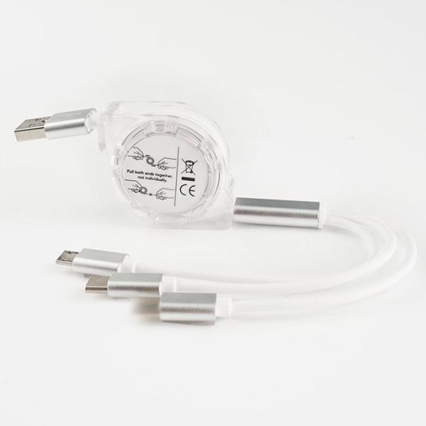 充電ケーブル 3in1 巻き取り iPhoneX XS Max XR iPhone8/8 Plus iPhone7/7Plus iPhone6/6s iPhoneSE ケーブル 3 in 1 USB to TypeC|karei|08