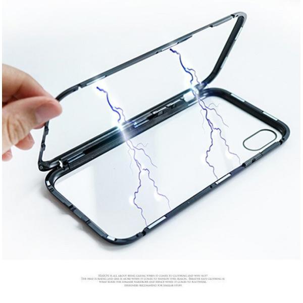 iPhone XS ケース シンプル マグネットケース ガラスケース アルミ iphoneケース おしゃれ アイフォン 大人 人気 ギフト メンズ レディース 携帯ケース karei 03